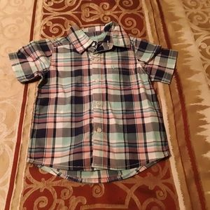 EUC Plaid Button Down for a Baby Boy